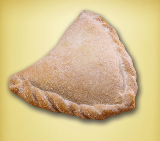 Empanada dusted with sugar= Empanadas= turnovers